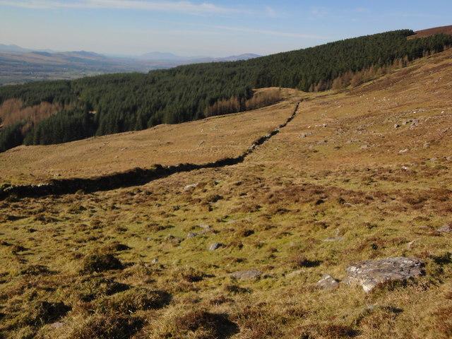 Trail subsumed by encroaching blanket bog