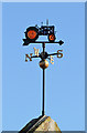 NT7335 : A tractor weathervane at Kelso by Walter Baxter