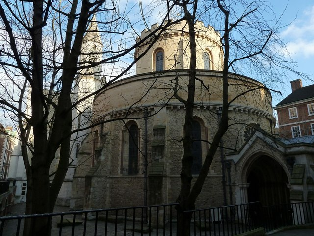 Temple Church from Inner Temple Lane