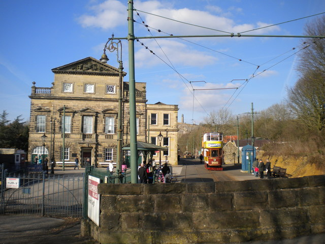 South end of Crich Tramway Village