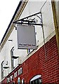 SO8090 : The Red Lion Inn (3) - sign, Six Ashes Road, Bobbington by P L Chadwick
