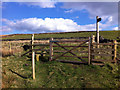 SD9931 : Gate and stile on Limers Gate, above Crimsworth Dean by Phil Champion