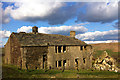 SD9831 : Derelict farm at Coppy, above Crimsworth Dean by Phil Champion