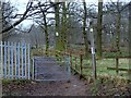 SK6670 : Woodland footpath from Whitewater Lane by Andrew Hill