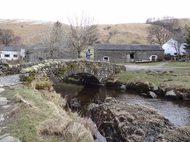 Bridge over Watendlath Beck at Watendlath