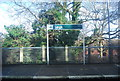 TQ5446 : Leigh Station sign by Nigel Chadwick