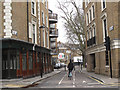 TQ3183 : Owen Street cycle lane by Stephen Craven