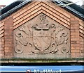 SJ9397 : Coat of Arms above the NatWest Bank by Gerald England