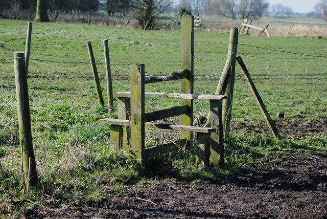 Stile on the paddock