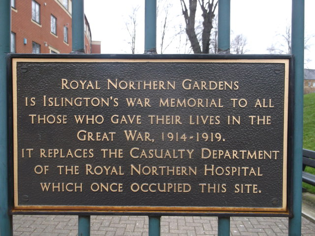 Royal Northern Gardens Plaque