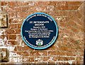 SJ8990 : Blue Plaque on St Petergate Bridge by Gerald England