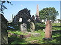 SP0891 : Three obelisks and other memorials, Witton Cemetery by Robin Stott