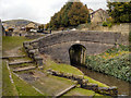 SD9803 : Huddersfield Narrow Canal, Bridge at Lock 16W by David Dixon