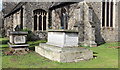 TQ2184 : St Mary, Neasden Lane, Church End - Gravestones by John Salmon