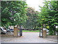 TQ3877 : Gates to St Alfege churchyard by Stephen Craven