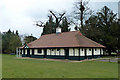 TL7829 : Sports pavilion, Gosfield by Robin Webster