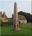 TF8943 : Holkham war memorial by Trevor Littlewood