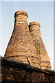 SJ8746 : Bottle Kilns Hartley Court from the Trent and Mersey Canal by Jo Turner