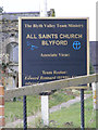 TM4276 : All Saints Church sign by Adrian Cable