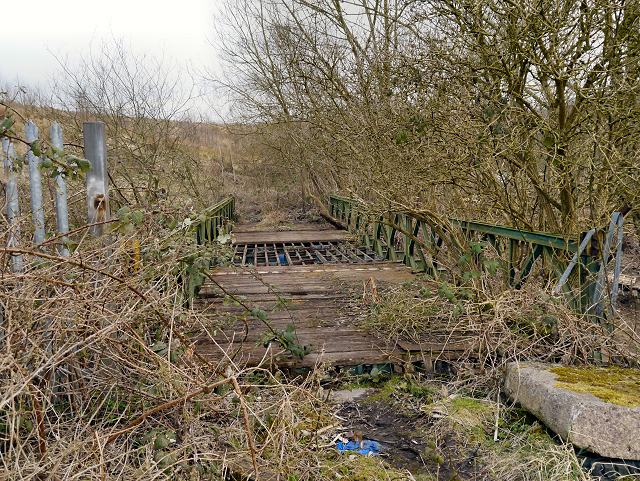 Derelict Bridge over Bealey's Goit