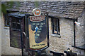 SP0512 : Sign, Seven Tuns Public House, Chedworth by Christine Matthews