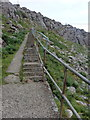 NG1347 : Neist Point: steep steps on the path by Chris Downer