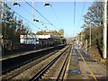 SJ8485 : Heald Green railway station by Nigel Thompson