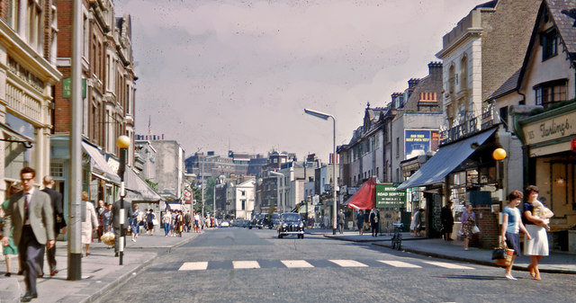 Chelsea: Kings Road, near Sloane Square, 1962