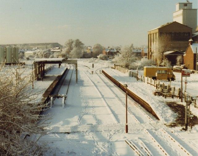 Bedford St Johns Railway Station 1981 Nigel Thompson