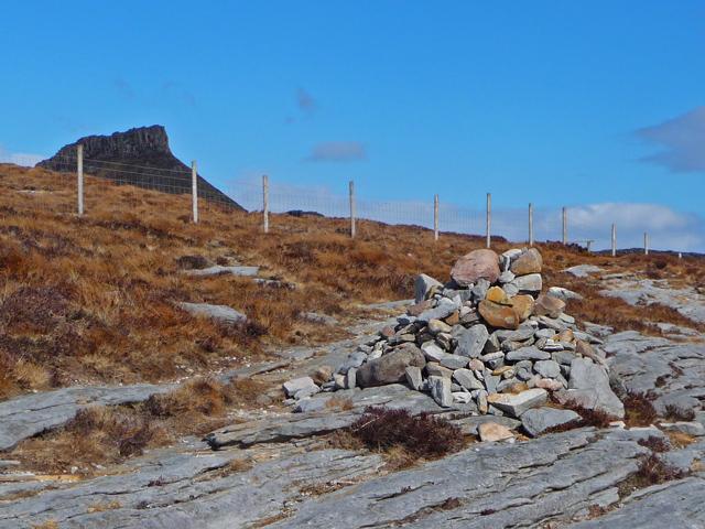 Cairn on the Dun Caan path