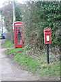 SU1118 : Rockbourne: postbox № SP6 3 and phone by Chris Downer