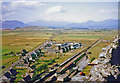 SH5831 : Panorama northward from Harlech Castle over Morfa Harlech to Snowdon, 1964 by Ben Brooksbank