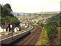 ST2198 : Crumlin viaduct from Celynen North by Richard Green