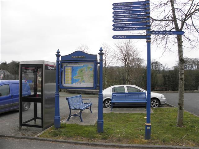 Information board and sign post, Plumbridge