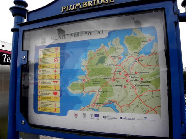 Information board, HEART Public Art Trail