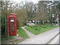 SY8280 : West Lulworth: phone box by School Lane corner by Chris Downer