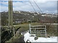 SE0026 : Gate on Hebden Royd Footpath 47 by Humphrey Bolton