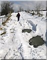 SO3596 : Snow blocked road close to the Stiperstones by Dave Croker