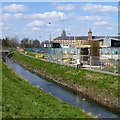 SK5538 : River Leen bridge support grows by David Lally