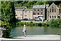 SK2956 : Cromford mill pond by Graham Horn