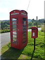 NM8221 : Kilninver: postbox № PA34 167 and phone by Chris Downer
