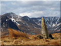 NY4604 : Old gatepost, Hollow Moor by Karl and Ali