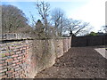 SP0583 : Serpentine (crinkle crankle) wall, Winterbourne garden by David Hawgood