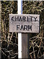TM4470 : Charity Farm sign by Adrian Cable
