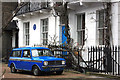 TQ2778 : Blue Mini at Bram Stoker's by Des Blenkinsopp