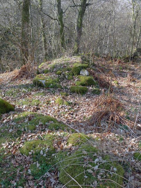 Surviving walls of Drummondreach Fort
