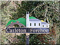 TG0905 : Carleton Forehoe Village sign by Adrian Cable