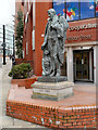 SJ8498 : Robert Owen Statue, Balloon Street by David Dixon