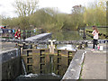 TL4919 : Opening the paddles at Twyford Lock by Roger Jones