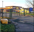 SU1283 : School entrance gate, Toothill, Swindon by John Grayson